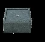 Auffangbecken Granit, quadratisch  1