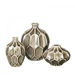 """Vase """"AMALFI"""" taupe grey 3er Set  1"""