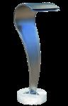 "Wasserspeier ""Schwan"" LED, Edelstahl  1"
