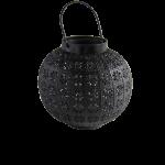 Metall-Laterne ODESSA, schwarz  1