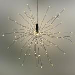 LED Stern Lichterball Funkelfunktion schwarz D 30cm 160 LED warmweiß für innen und außen  1