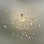 LED Stern Lichterball Funkelfunktion weiß D 24cm 120 LED warmweiß für innen und außen  1