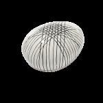 Pappmache-Ei creme, schwarz gestreift 13 x 10 x 8 cm 1