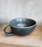 Tasse Keramik graugrün  1