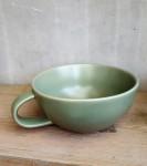 Tasse Keramik olivgrün  1