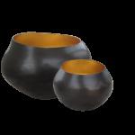 Teelichthalter BELA kupfer/gold  1