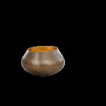 Teelichthalter BELA gold/gold H 11 x D 11 cm 1
