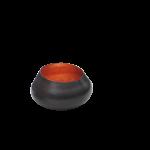 Teelichthalter BELA kupfer/kupfer H 11 x D 11 cm 1