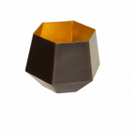 Teelichthalter EDDA kupfer/gold  1