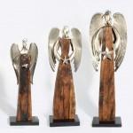 "Engel ""Zwaar"" aus Holz & Edelmetall  1"