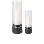 Blomus PIEDRA - Windlicht mit Kerze, Edelstahl  1