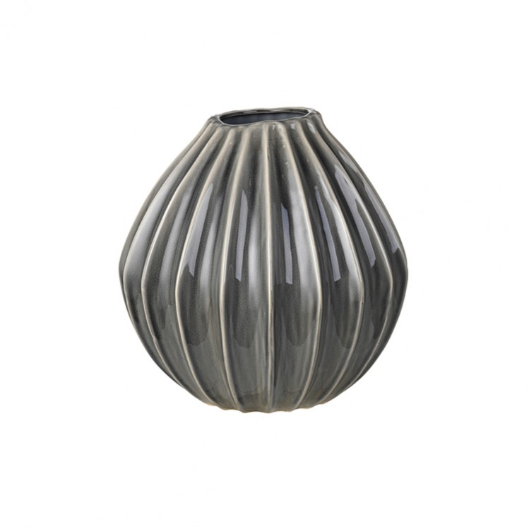 """Vase """"Wide"""" smoked pearl 30x30cm"""