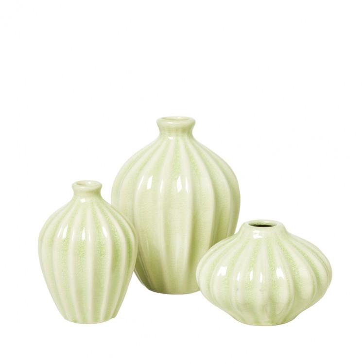 """Vase """"AMALIE"""" dessert sage 3er Set"""