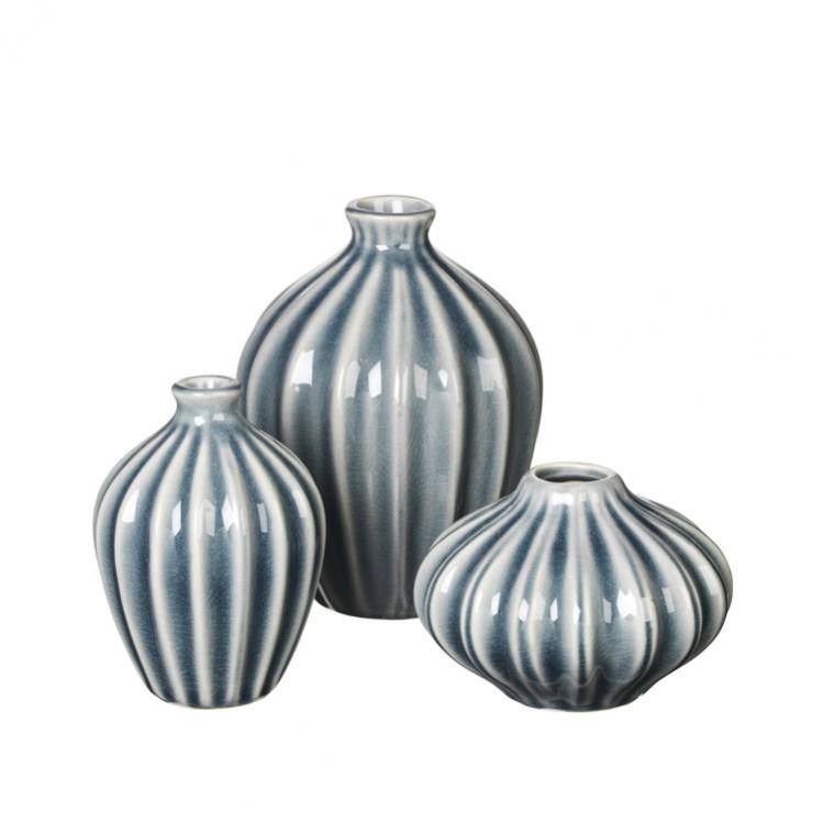 "Vase ""AMALIE"" blue mirage 3er Set"