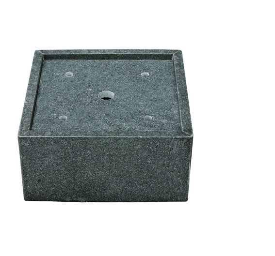 Auffangbecken Granit, quadratisch