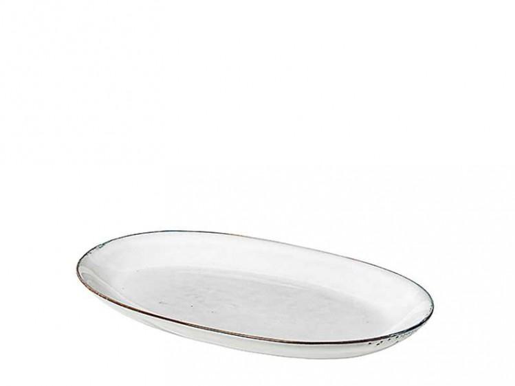 "Platte oval L ""Nordic Sand"" Broste Copenhagen"
