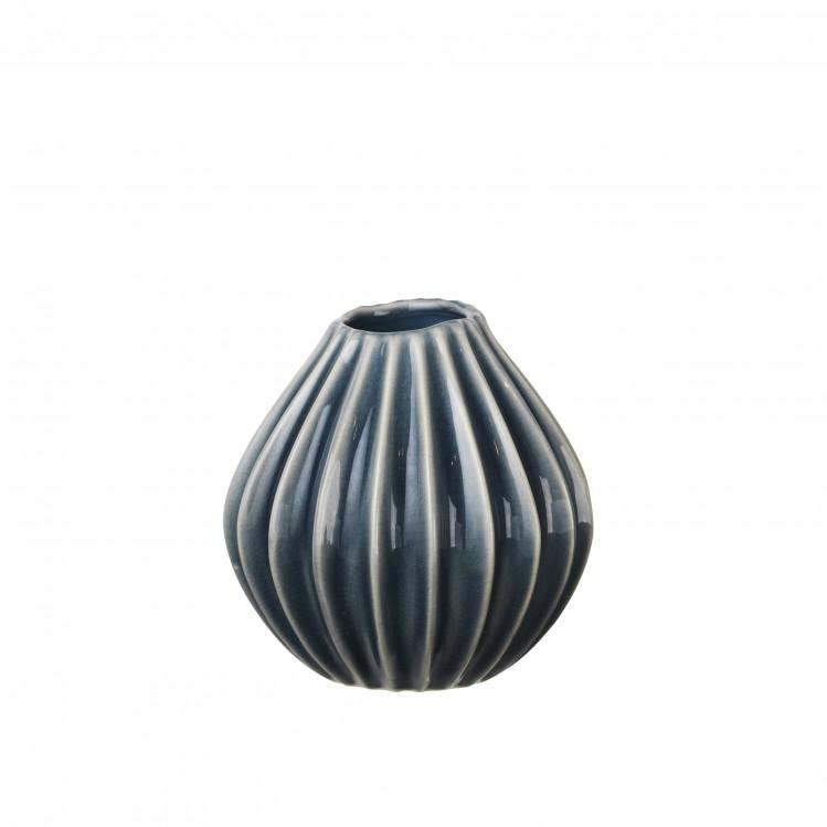 "Vase ""Wide"" Blue Mirage 15x15cm"