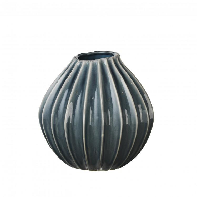 """Vase """"Wide"""" Blue Mirage 25x25cm Broste Copenhagen"""