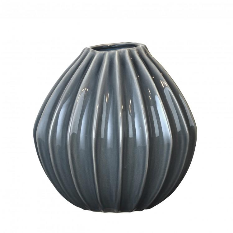 "Vase ""Wide"" Blue Mirage 30x30cm"