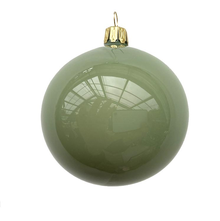 Christbaumkugel salbei/grün opal, Glas, 6er Box