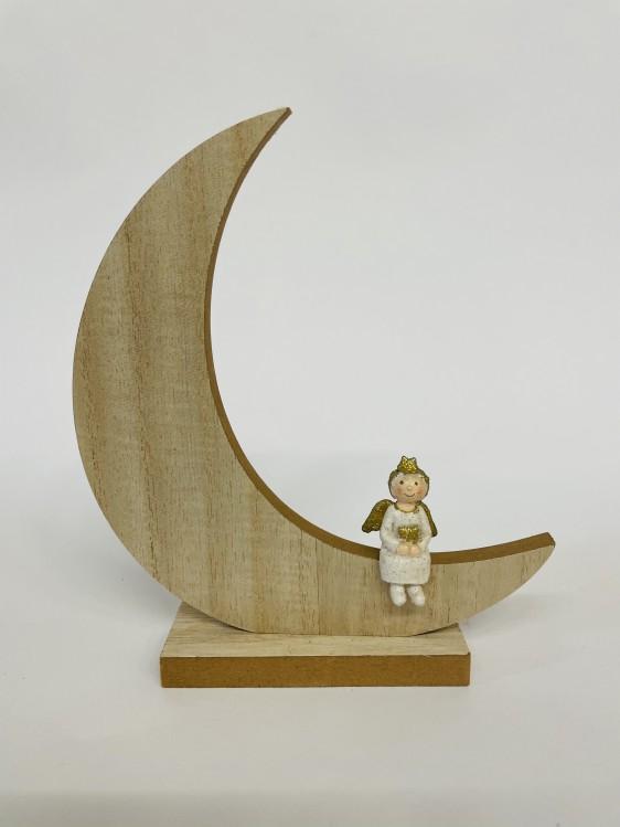 Exner Holz-Mond mit Engel