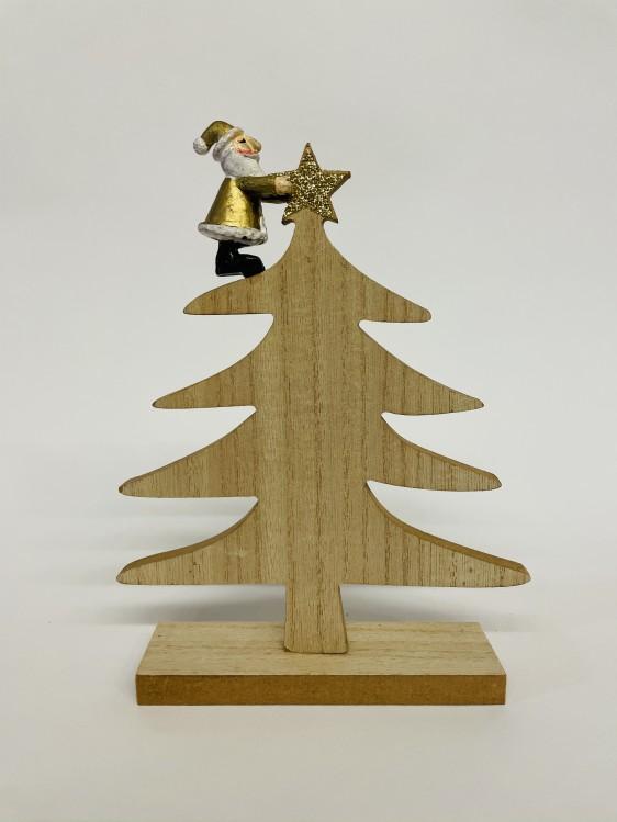 Exner Holz-Tannenbaum mit Weihnachtsmann