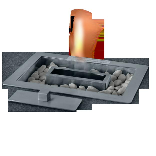 Feuerstelle RECTA, Tischeinsatz