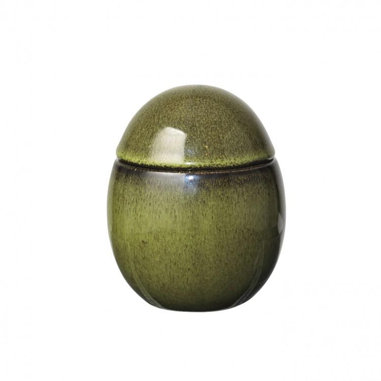 """Gefäß Ei """"Curves"""" groß olivgrün"""