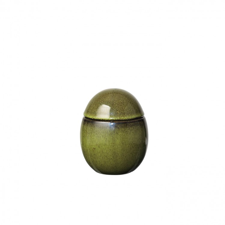 """Gefäß Ei """"Curves"""" klein olivgrün"""