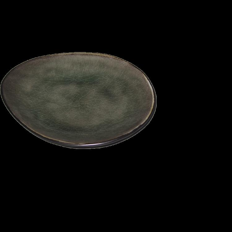 "ovaler Teller ""Pure"" Ø16,5cm grau"