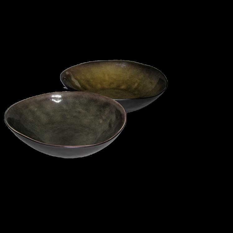 """tiefer ovaler Teller """"Pure"""", Ø17cm"""