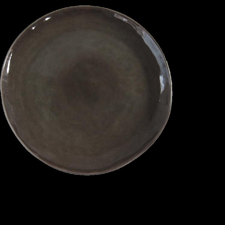 "runder Teller ""Pure""  Ø20,5cm grau"