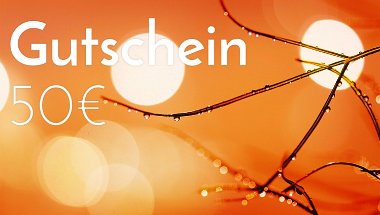 Gutscheine zum Einlösen im Geschäft 50,00 €