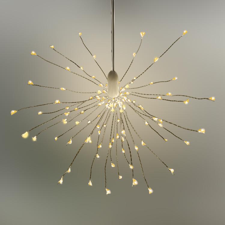 LED Stern Lichterball Funkelfunktion weiß D 24cm 120 LED warmweiß für innen und außen