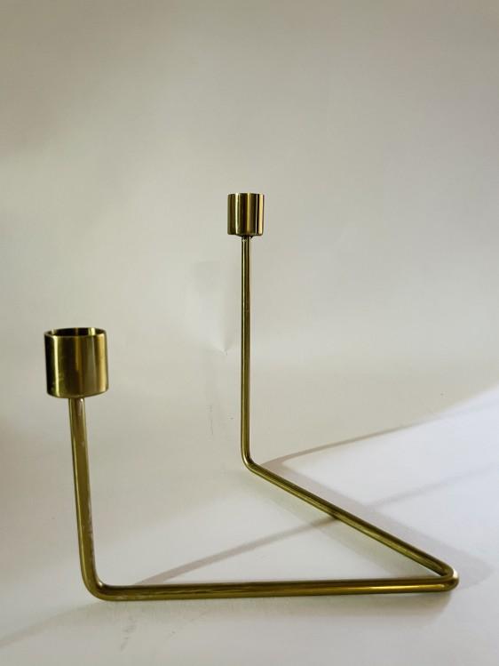 LIV moderner Kerzenhalter gold glänzend