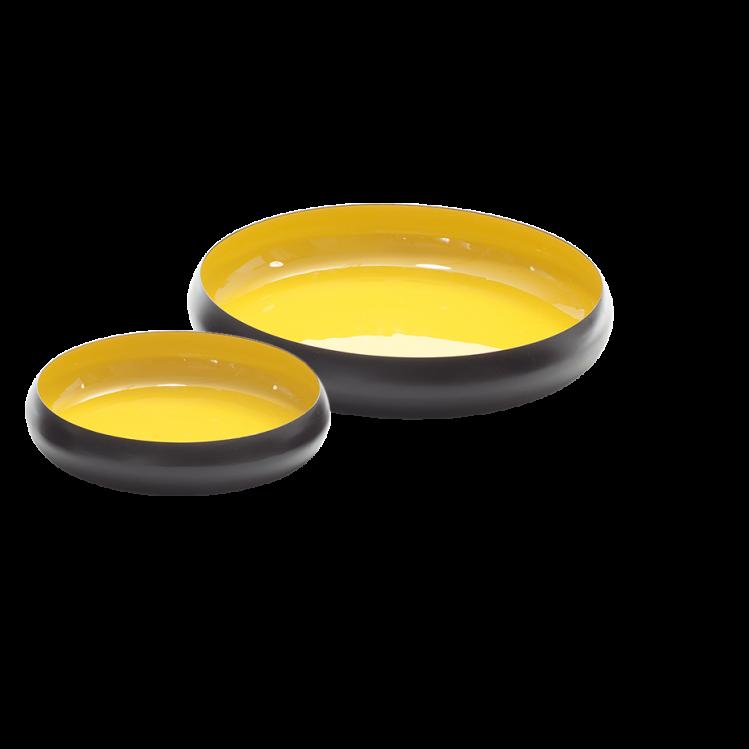 Metallschale VICC schwarz/gelb