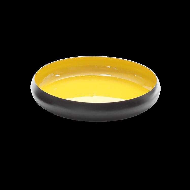 Metallschale VICC schwarz/gelb 36 x 7 cm