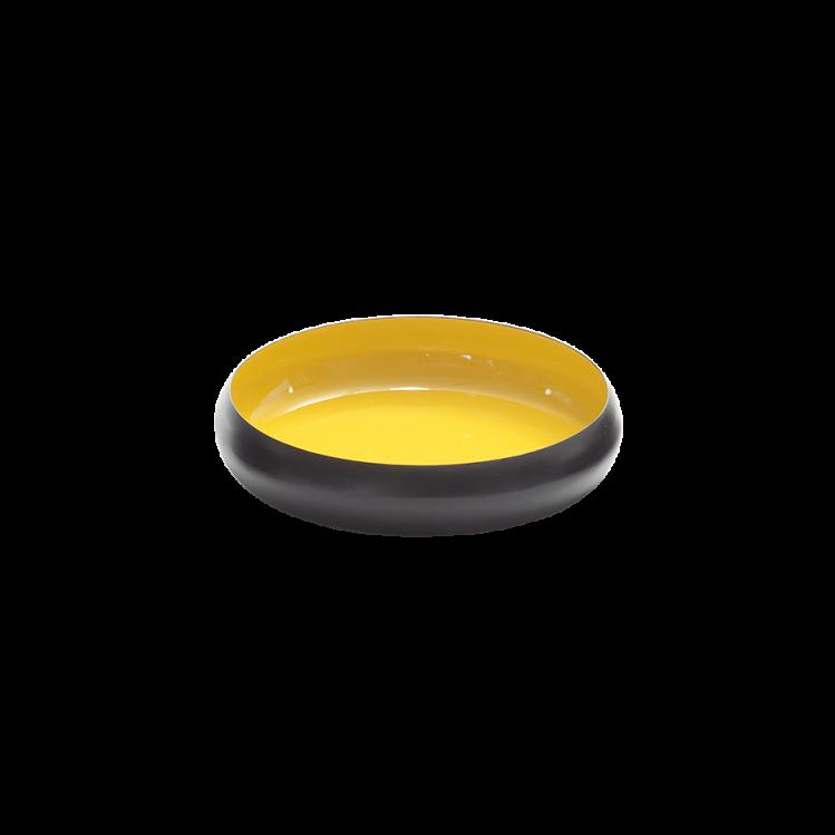 Metallschale VICC schwarz/gelb 26 x 7 cm