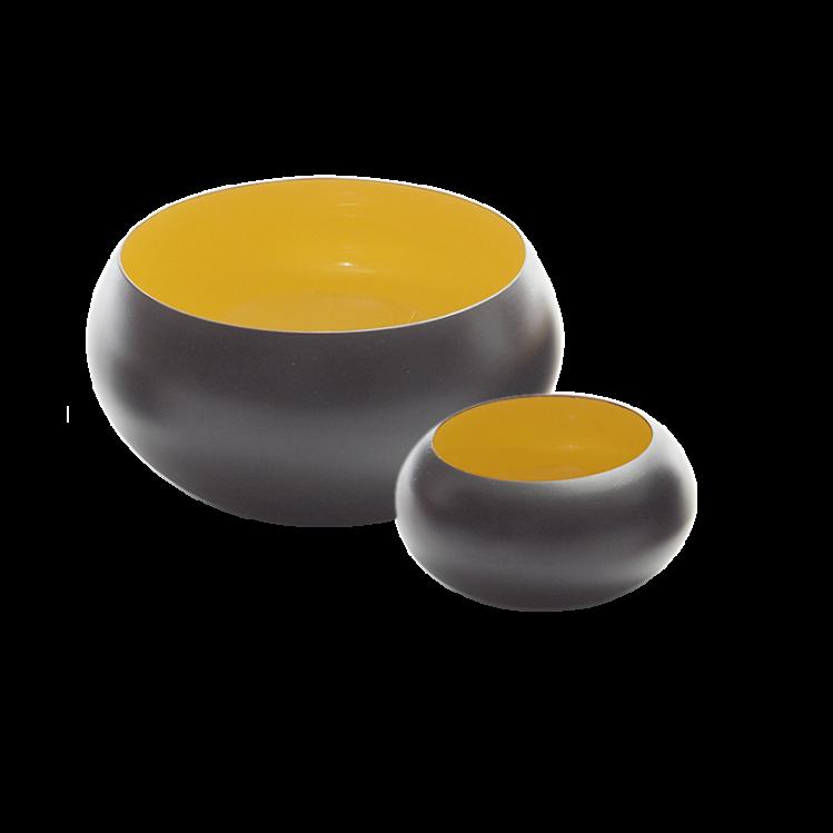 Metallschale VIM schwarz/gelb