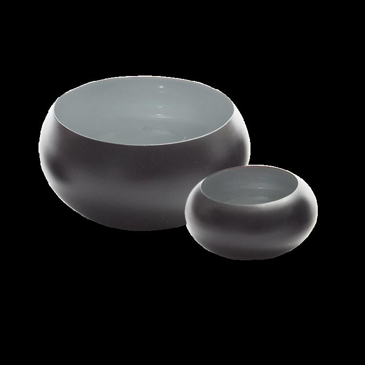 Metallschale VIM schwarz/grau