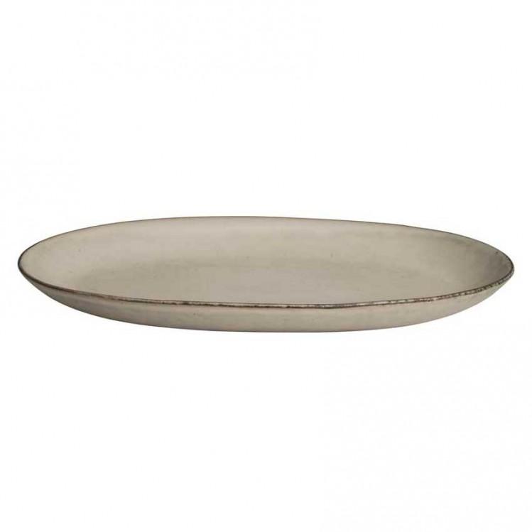 "Platte oval ""Nordic Sand"" Broste Copenhagen"
