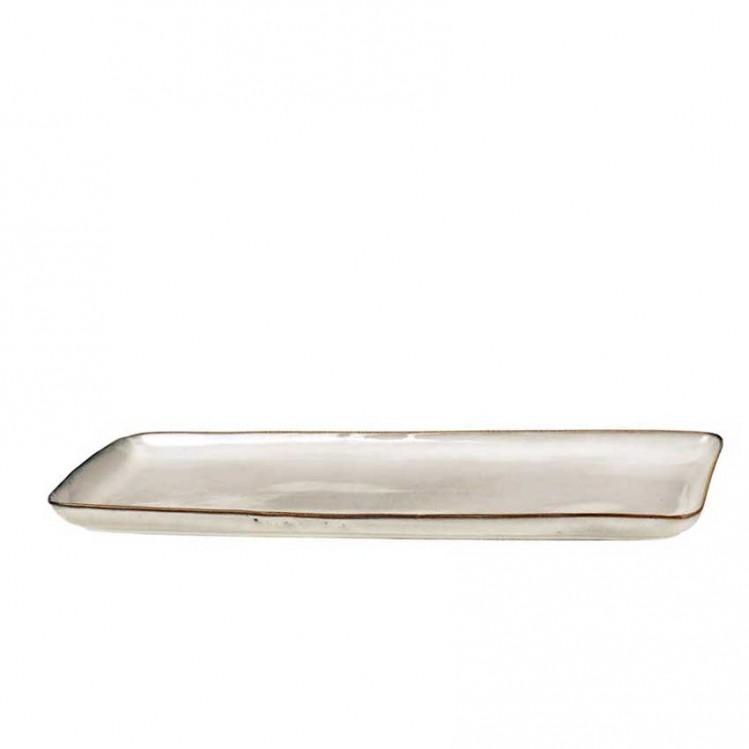 """Viereckige Platte """"Nordic Sand"""" 35x12,5cm"""