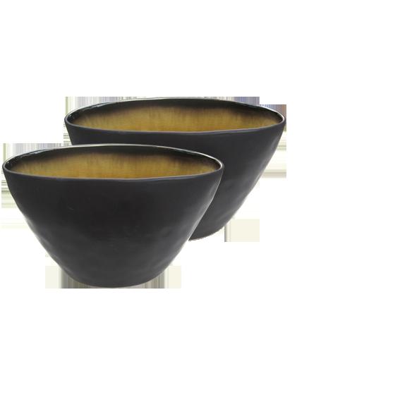 """Schale """"Pure"""" oval,  Keramik geflammt"""