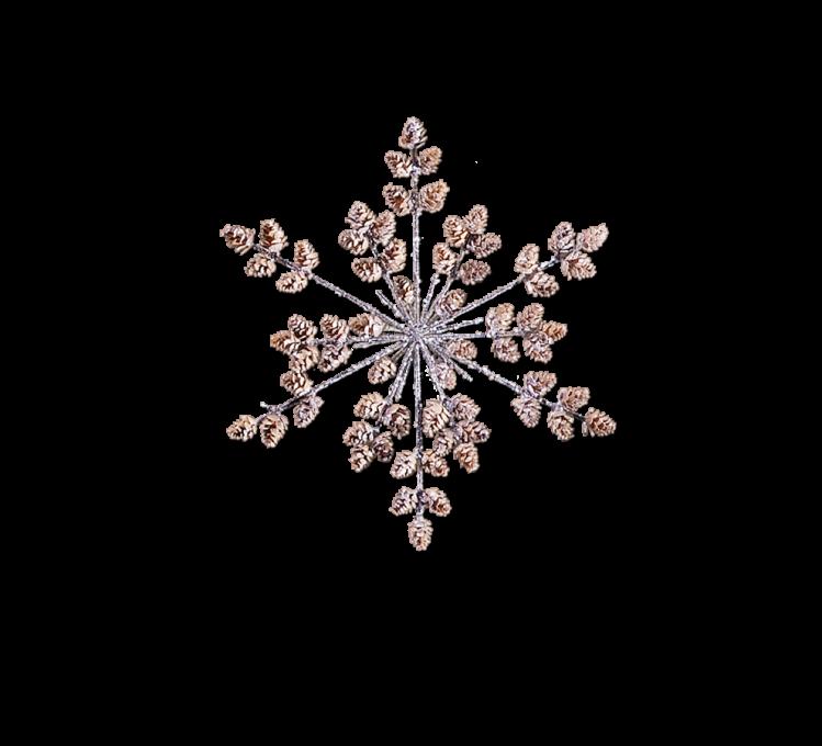 Adventsschmuck Schneeflocke mit Lärchenzapfen 33,5 cm