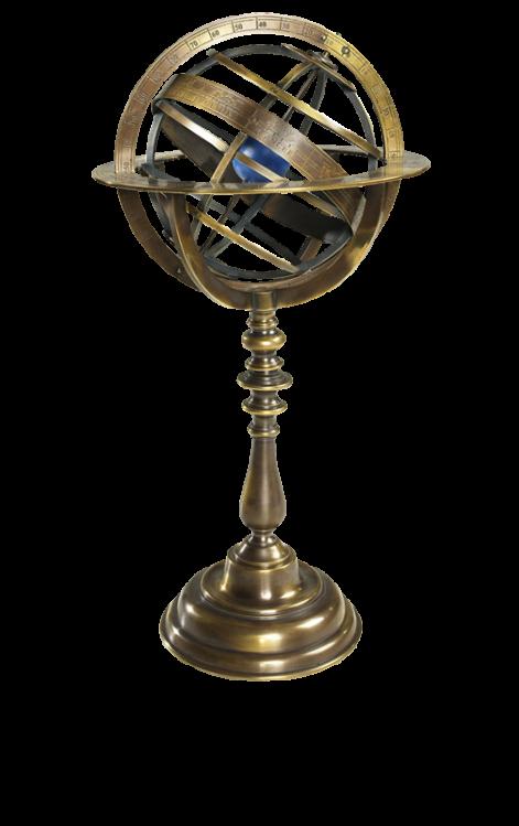 """Globus """"Sphärisch"""" - Bronze Armillary Dial"""
