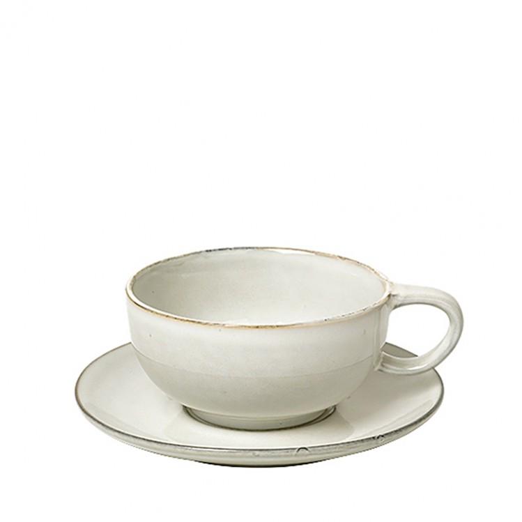 """Tasse mit Untertasse Tee """"Nordic Sand"""" 11x6cm"""