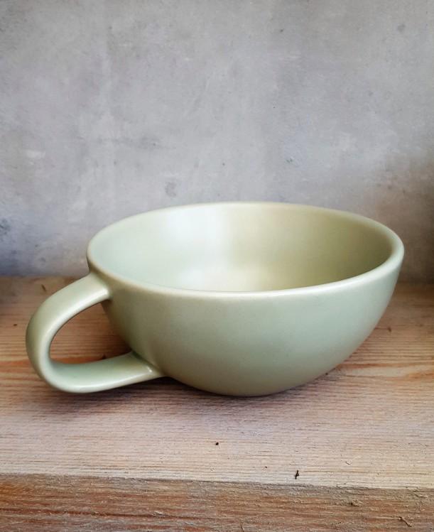 Tasse Keramik hellgrün