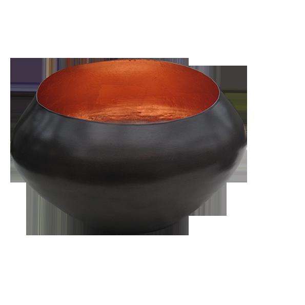 Teelichthalter BELA kupfer/kupfer H 22 x D 15 cm