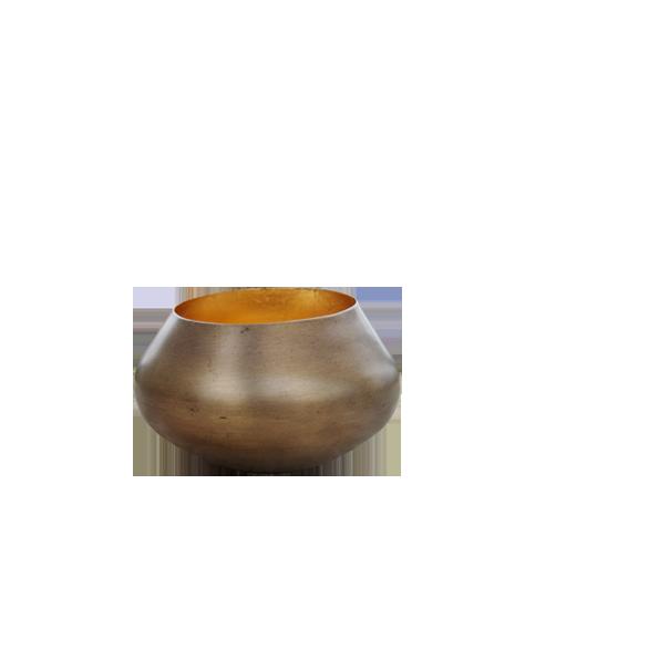 Teelichthalter BELA gold/gold H 11 x D 11 cm
