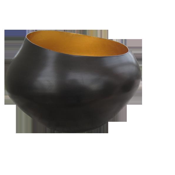 Teelichthalter BELA kupfer/gold H 22 x D 15 cm